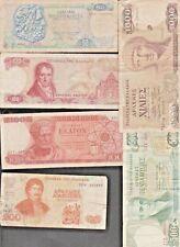 Lot 6 vieux billets banknote GRECE tous différents 50 100 200 500 1000 drachmes