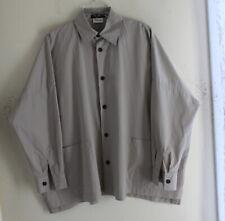 Eskandar Classic Khaki Gray 100% Cotton Boxy Shirt Jacket Sz 1 Neiman Marcus