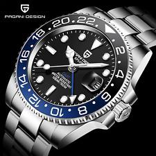 2020 New PAGANI DESIGN Luxury Men GMT Automatic Machinery Watch 40MM Ceramic bez