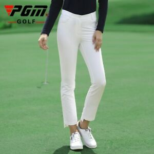 Womens Pants Sport Wear Ladies Ankle-Length Golf/Tennis Trouser Cropped Trousers