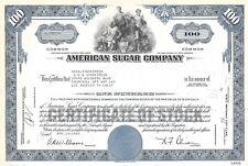 New listing American Sugar Company.1963 Common Stock Certificate