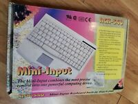 Vintage ACK-540 Mini Touchpad Keyboard Windows w TouchPad PS/2 computer