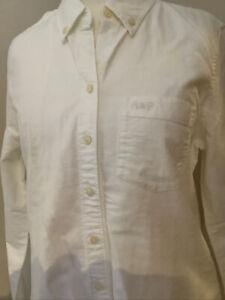 Abercrombie & Fitch White Ladies Cotton Shirt Size M