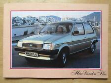 VANDEN PLAS METRO 1980-81 UK Mkt Sales Brochure - Austin Mini interest