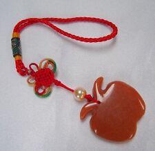 Feng Shui Chinese Orange Jade Apple Charm