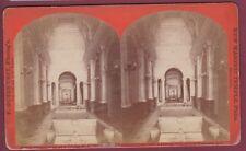 STEREO 130615 GUTEKUNST F - NEW MASONIC TEMPLE Arch St Phila. Main hall - 1873