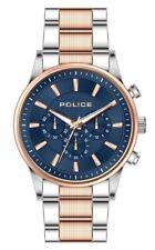 POLICE Kastrup Blue Dial Silver Rose Gold Bracelet Watch PL.15589JSTR/03M