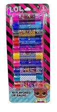 LOL Surprise flavored 10 pack lip balm set
