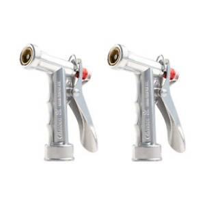 Gilmour Hose Nozzle Metal 805642 Pistol Rear Control Adjustable Water Force 2-PK