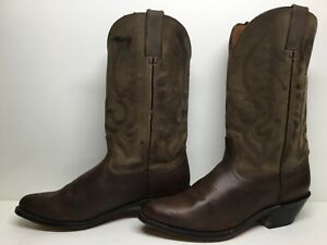 WOMENS UNBRANDED COWBOY DARK BROWN BOOTS SIZE 8.5 M