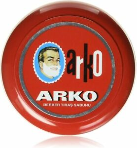 Arko Shaving Soap in Bowl | Red | 90 Gram | Luxurious Lather | Smooth Shave