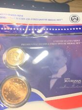 James Buchannon PRESIDENTIAL $1 DOLLAR COIN & FIRST SPOUSE MINT MEDAL SET
