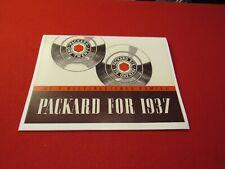 1937 Packard Junior sales brochure