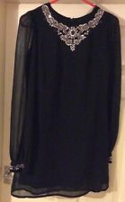 Ladies Black Dress Size 10 By Love Peach