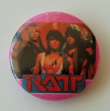 RATT OLD METAL BUTTON BADGE FROM THE 1980's  GLAM HAIR METAL