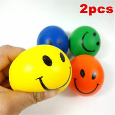 2Pcs * Anti Stress Smiley Face Reliever Ball Stressball ADHD Autism Mood Squeeze