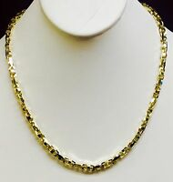 """18k Solid Yellow Gold Anchor Mariner Link Chain Necklace 5 MM 68 grams  20"""""""