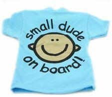 Indigo SMALL DUDE ON BOARD T SHIRT Baby Boy On Board Design Car Sign  BNIP