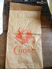 sac d'emballage Codec - orange sur fond beige