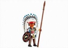 PLAYMOBIL 6271 Jefe Indio Oeste Americano Western Native American Sioux NUEVO