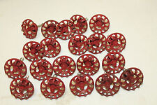 NEW Distressed Metal Faucet Valve Handle Cabinet Door Knob Steampunk Red lot 20