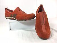 Merrell Women Barrado Leather Autumn Burst Zip Loafer Slip On Shoes US 10 USED
