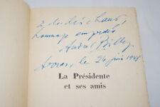 ANDRE BILLY ENVOI LA PRESIDENTE ET SES AMIS MADAME SABATIER 1947