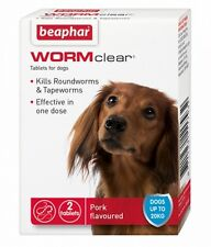 Beaphar Wormclear Dog Wormer 2 Tablets up to 20kg MULTIBUY