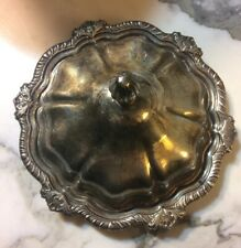 Vintage LE Silver Plate Tray Plater With Lid