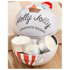 Wax Lyrical 9 Holly Jolly Tea Lights Filled Christmas Bauble