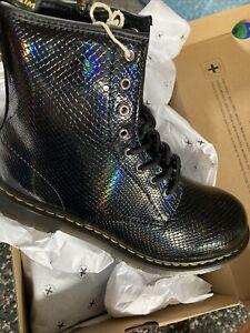 dr martens 5 Black Reptile Vegan Boots Bnib Uk5