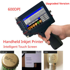 600DPI Handheld Smart Date Coder Inkjet Printer Ink Barcode machine LED Screen