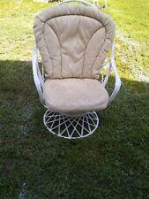 Russell Woodard Fiberglass Spun Swivel Arm Chair White Color