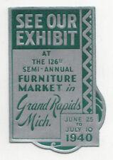 1940 GRAND RAPIDS MICHIGAN Furniture Market TRAVEL Label DECAL Mich MI Exhibit