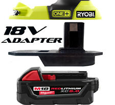 Milwaukee M18 18v Impact Driver Drill Battery Adapter to Ryobi 18v One+ Tools