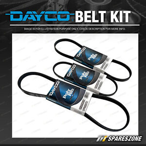 Dayco Alt & P/S & A/C Drive Belt Kit for Toyota Sprinter Corolla AE112 93 102