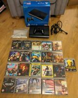 Sony Playstation 3 PS3 Super Slim Black 500GB Console Boxed with 21 Games Bundle