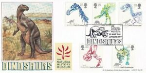 20 AUGUST 1991 DINOSAURS BRADBURY LE FIRST DAY COVER NATIONAL HISTORY MUSEUM SHS