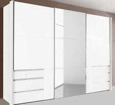 WIMEX Schwebetürenschrank Schlafzimmerschrank Level weiß 300cm 841480