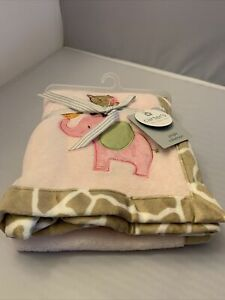 Carters Jungle Colkection Baby Blanket Nwt