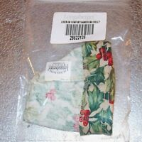Longaberger American Holly SMALL COMFORTS Basket Liner ~ Made in USA ~ New!