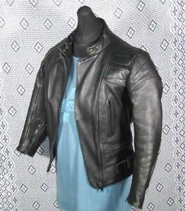 Vintage SCOTT Leather Motorcycle Jacket Ladies 10