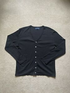 New: Saint James Men's Black Cotton Cardigan Made in France Size S-M