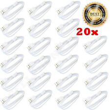 20x Micro USB Charger Data Sync Cable Braided Cord For Samsung Android LG WHITE