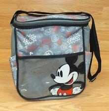 Genuine Disney Baby Grey Red & Black Mickey Mouse Diaper / Bottle Bag *Read*