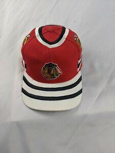 Chicago Blackhawks Vintage 90's Twins Enterprise Snapback Cap Hat hockey