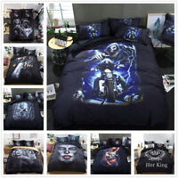 3D Skull Motorcycle Beauty Bedding Set Quilt Cover Comforter Cover Pillow Case