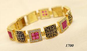 Fashion cubic Zirconia Antique  Ruby Tennis Bracelet 42 RB 2