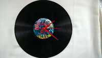 """IRON MAIDEN The Number Of The Beast  12"""" VINYL LP Wall Clock"""