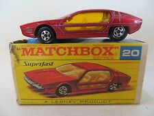 MATCHBOX 20d LAMBORGHINI MARZAL. RED. VINTAGE 'SUPERFAST'. 20. EXCELLENT/BOXED.